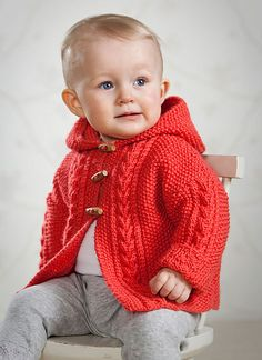 Jacka med huva pattern by Svarta Fåret jacke stricken junge Baby Knitting Patterns, Baby Sweater Patterns, Baby Cardigan Knitting Pattern, Knit Baby Sweaters, Knitted Baby Clothes, Knitting For Kids, Baby Patterns, Free Knitting, Cardigan Bebe