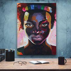 African-American Woman art, Melanin Art, Beauty Woman, African Art,  Black Lives Matter, Home Wall Art, Housewarming Gift, Black Woman Art Poster Decorations, Comic Poster, Black Women Art, Black Artists, African American Women, Minimalist Art, Home Wall Art, African Art, Female Art