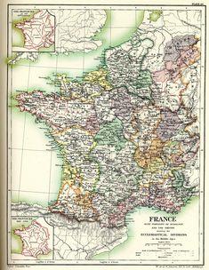 Carte de France des divisions ecclésiastiques