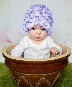 Another great find on #zulily! Lavender Hydrangea Petal Hat by Diapers & Denim #zulilyfinds