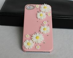 diamond  iphone 4 cases,pink  iphone cases 4 4s,  crystal  iphone 4 4scover,bling iphone 4 cases. $19.99, via Etsy.