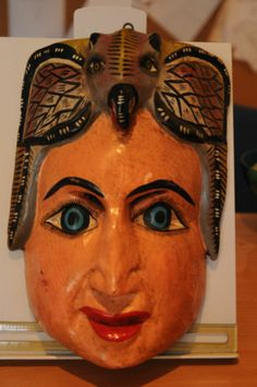 vintage Ethnic Painted mask Shaman? Hindu? south american? Face with bird hat http://cgi.ebay.co.uk/ws/eBayISAPI.dll?ViewItem&item=171162606812