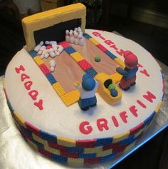 Lego bowling cake!