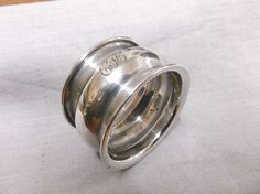 """A  VINTAGE  STERLING SILVER  """"BELLIED """"  NAPKIN RING   BIRMINGHAM  1912 #Birmingham Birmingham, Napkin Rings, Rings For Men, Wedding Rings, Engagement Rings, Sterling Silver, Vintage, Ebay, Jewelry"""