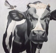 """""""Cninese Whispers"""" Sold at the NZ Art Show 2014 Nz Art, Pet Portraits, Portrait Photography, Cow, Painting, Pets, Artwork, Nice Things, Decorating Ideas"""