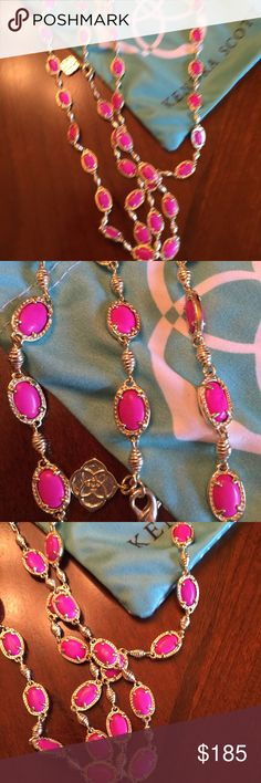 Kendra Scott Gale Gale necklace in gold and magenta Kendra Scott Jewelry Necklaces