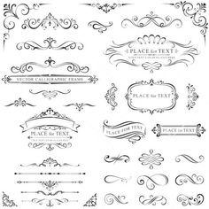 INSTANT DOWNLOAD 33 Digital Borders Frames Ornate Vintage Wedding Invitation Clip Art Scrapbook Art Decor Craft Supply COMMERCIAL Use: