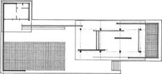Plan of the Barcelona Pavilion / Mies Van Der Rohe Grid Architecture, Historical Architecture, Ludwig Mies Van Der Rohe, Barcelona Pavillion, Open Plan, Floor Plans, How To Plan, Arches, Plays