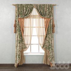 3d модели: Шторы - Classic curtains