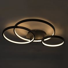 Shop for Modern ceiling lamp black incl. LED and dimmer Rondas online! Wall Lights, Ceiling Lights, Modern Ceiling, Apartment Interior Design, Black And White Design, Bedroom Lighting, Ceiling Lamp, Lighting Design, Round Glass