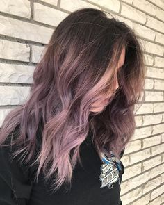 dusty lavender / purple / mauve / ombre hair (@guytang_mydentity)