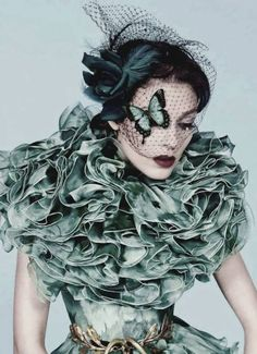 You give me #butterflies #fashion #ruffles