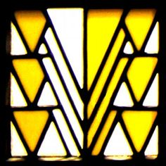 Stained glass design by Charles Rennie Mackintosh for 78 Derngate, The Charles Rennie Mackintosh House and Galleries. ~via 78 Derngate, FB Charles Rennie Mackintosh Designs, House For An Art Lover, Tiffany, Estilo Art Deco, Glasgow School Of Art, Stained Glass Designs, Miniature Crafts, House On A Hill, Arts And Crafts Movement