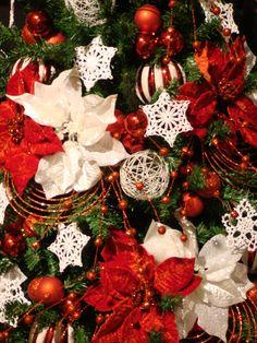 Deco navidad blanco y rojo