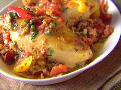 Roman-Style Chicken from CookingChannelTV.com
