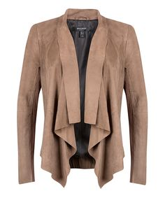 Another great find on #zulily! Muubaa Taupe Suede Jacket by Muubaa #zulilyfinds