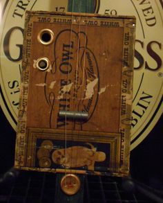 3 string Cigar Box Guitar hand by OlBoyCigarBoxGuitars on Etsy, $65.00
