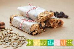 the winthrop chronicles: homemade granola bars