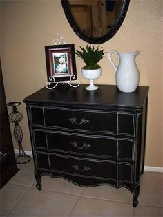Distressed Black Bedroom Furniture how to achieve a black distressed finish {paint furniture