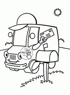 Post Truck Coloring Page For Kids Transportation Pages Printables Free
