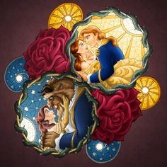Beuty and the Beast Disney 4 Cross Stitch Pattern Counted Cross Stitch Chart, Pdf Format, Instant Download /242242 by icrossstitchpattern on Etsy