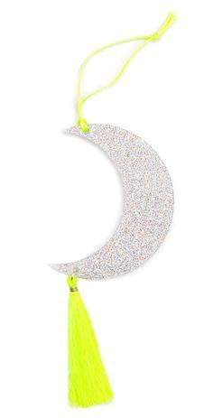 Glitter Moon Ornament