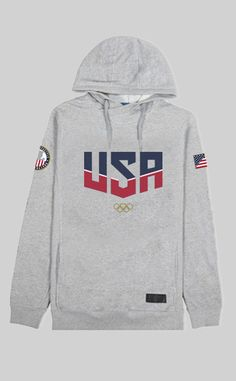 OLYMPIC USA GRAY Hoodie