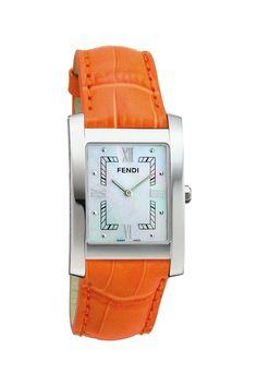 Classico Orange Leather Watch