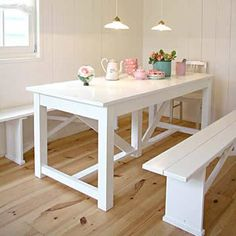 SILO 6 | Brocante tafels en eettafels | Wit | Grijs | Stoer | Tuin | Timzowood