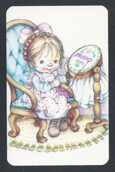 800-465-Blank-Back-Swap-Card-EXC-Lee-Girl-doing-embroidery