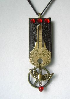 Up-cycled re-purposed domino & vintage key necklace done in Steampunk style by ARTchaeology, $25.00