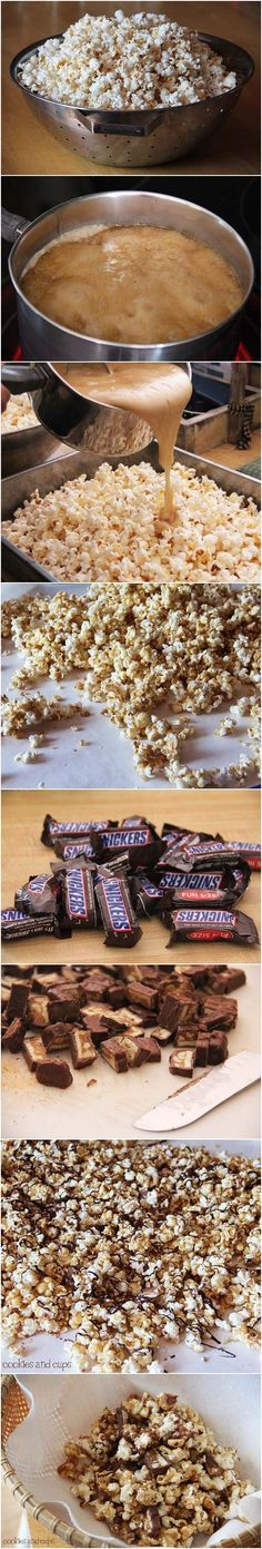 Snickers Popcorn!  Only for special occasions because I am sure this will be…