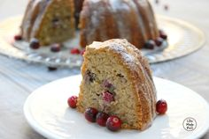 Friends, this grain free lemon cranberry bundt cake would be the perfect addition to your holiday meals. (Or perfect for a Sunday night dessert like we did!)