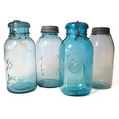 Fab.com | Blue Glass Ball Jars