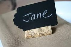 wine cork name holder or name of a dish!