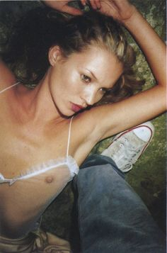 Kate Moss shot by Juergen Teller for The Face (1997)
