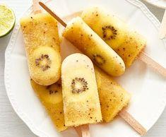 Ananasové nanuky s kiwi Kiwi, Cantaloupe, Pineapple, Paleo, Goodies, Frozen, Gluten, Ice Cream, Fruit