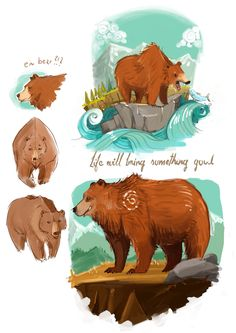 Bear conceptualisation of a greeting card. #bear #characterdesign #illustration