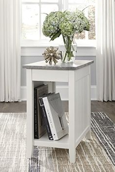 Diamenton White Chair Side End Table by Ashley Furniture is now available at American Furniture Warehouse. Furniture Depot, Accent Furniture, Home Furniture, Furniture Ideas, Chair Side Table, End Tables, Occasional Tables, Coaster Furniture, Signature Design