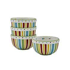 SIMPLY SUMMER MEDIUM BOWLS - SET OF 4  #bowls