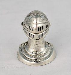 Antiques Atlas - Novelty Silver Knight's Head Pepper Pot