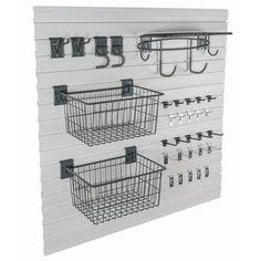 GlideRite Slatwall Garage Organization Laundry Supply Kit Laundry Slatwall Kit w… - Laundry Supplies - Egg Rolls