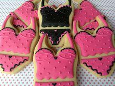 Lingerie, cookies, biscoitos decorados | by Cookie Design