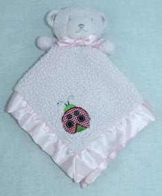 Tiddliwinks Pink Teddy Bear Ladybug Lovey Security Blanket #Tiddliwinks