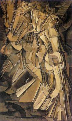 Marcel Duchamp     Nude Descending a Staircase, #2       1912