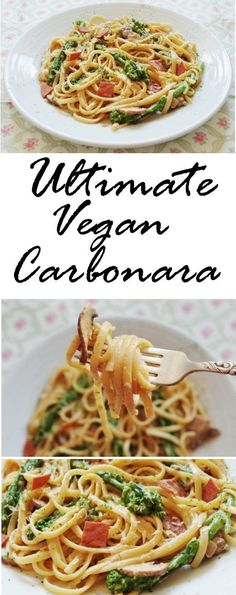 Ultimate Vegan Carbonara | Euphoric Vegan #pastafoodrecipes