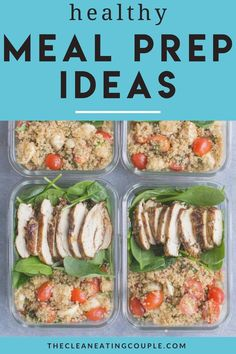 Searching for easy, healthy meal prep ideas? I've got tons of meal prep recipes and tips for how to meal prep for the week! If you're looking for breakfast, lunch or dinner ideas - these are all great for weight loss or saving money!