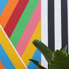 Rainbow stripes.