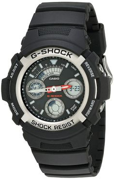 Casio Men's AW590-1AVCF G-Shock Black and Silver-Tone Analog Digital Watch * You can find out more details at the link of the image. (This is an Amazon Affiliate link and I receive a commission for the sales)