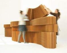 molo creates modern paper furniture, expandable walls, furnishings, lighting, and accessories that move with your life. Cool Forts, Grey Interior Doors, Interior Walls, Module Design, Espace Design, Folding Walls, Cardboard Furniture, Dark Interiors, Home Remodeling